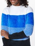 Roz & Ali Chenile Colorblock Pullover Sweater - 10