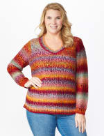 Roz & Ali Ombre Pullover Sweater - Plus - 6