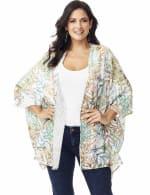 Palm Print Lace Kimono - Misses - 6