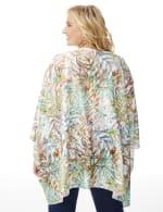 Palm Print Lace Kimono - Plus - 7