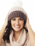 Color block Beanie Winter Hat - 8