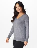 Roz & Ali Side Ruched Curved Hem Sweater - 4