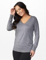 Roz & Ali Side Ruched Curved Hem Sweater - 6