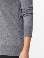 Roz & Ali Side Ruched Curved Hem Sweater - 5
