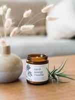 Cardamom Vanilla 9 oz.- Botanical Collection - Amber Glass - Back