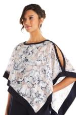 Banded Floral Caplet Dress - 3