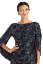 Drape Back Two-Tone Sequin Dress - 3