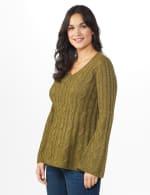 Westport Novelty Yarn Stitch Interest Sweater - 3