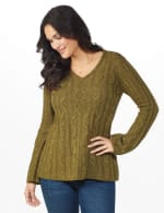 Westport Novelty Yarn Stitch Interest Sweater - 5