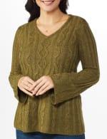 Westport Novelty Yarn Stitch Interest Sweater - 4