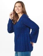 Westport Novelty Yarn Stitch Interest Sweater - Plus - 10