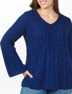 Westport Novelty Yarn Stitch Interest Sweater - Plus - 11