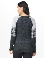 Westport Hacci Sweater Knit Twist Front Top - Black - Back