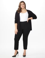 Plus Roz & Ali Pull On Superstretch Ankle Pants with Heat Seal Band Trim - Plus - 6