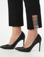 Plus Roz & Ali Pull On Superstretch Ankle Pants with Heat Seal Band Trim - Plus - 4