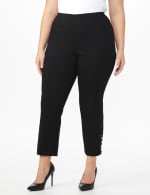 Plus Roz & Ali Pull On Superstretch Ankle Pants with Heat Seal Band Trim - Plus - 3