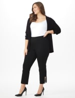 Plus Roz & Ali Pull On Superstretch Ankle Pants with Heat Seal Band Trim - Plus - 5