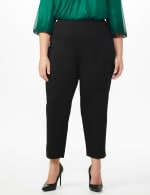 Plus Roz & Ali Superstretch Pull On Ankle Pant With Crystal Heat Seal Trim - Plus - 3