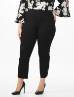 Plus  Superstretch Pull On Ankle Pant with Rhinestone Ring Trim - Plus - 4
