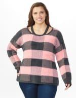 Westport Eyelash Cutout Neck Pullover Sweater - Plus - 5