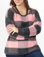 Westport Eyelash Cutout Neck Pullover Sweater - Plus - 4
