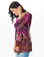 Influential Lady Velvet Knit Tunic Top - 3