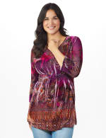 Influential Lady Velvet Knit Tunic Top - 6
