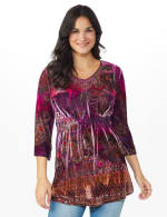 Influential Lady Velvet Knit Tunic Top - 5