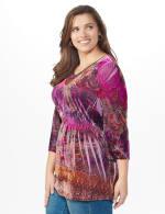 Influential Lady Velvet Knit Tunic Top - Plus - 3