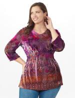Influential Lady Velvet Knit Tunic Top - Plus - 5
