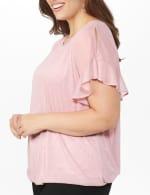 Roz & Ali Glitter Cold Shoulder Bubble Hem Blouse - Plus - 5