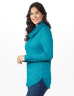 Westport Cowl Neck Curved Hem Sweater - 4