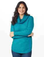 Westport Cowl Neck Curved Hem Sweater - 6