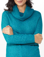 Westport Cowl Neck Curved Hem Sweater - 5