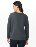 DB Sunday Party Sequin French Terry Sweatshirt - Dark Grey - Back