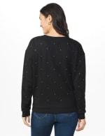 DB Sunday Studded French Terry Sweatshirt - Black - Back