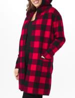 Roz & Ali Buffalo Plaid Sweater Coat - Plus - 5