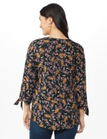 Westport Paisley Pintuck Woven Popover - black/Gold - Back