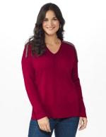 Roz & Ali Beaded Sweater Tunic - 11