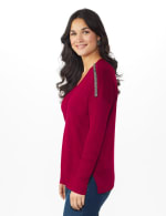 Roz & Ali Beaded Sweater Tunic - 9