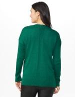 Roz & Ali Beaded Sweater Tunic - Moss - Back