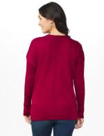 Roz & Ali Beaded Sweater Tunic - Velvet Red - Back