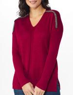 Roz & Ali Beaded Sweater Tunic - 10