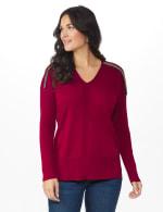 Roz & Ali Beaded Sweater Tunic - 12