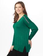 Beaded Sweater Tunic - Plus - 3