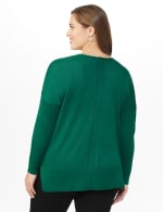 Roz & Ali Beaded Sweater Tunic - Plus - Moss - Back