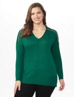 Beaded Sweater Tunic - Plus - 6