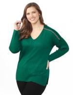 Beaded Sweater Tunic - Plus - 5