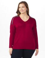 Roz & Ali Beaded Sweater Tunic - Plus - 11