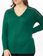 Beaded Sweater Tunic - Plus - 4
